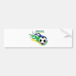 Cool Brasil Futebol Bumper Sticker