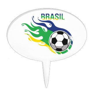 Cool Brasil Futebol Cake Topper