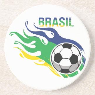 Cool Brasil Futebol Drink Coasters