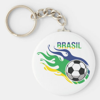 Cool Brasil Futebol Keychain