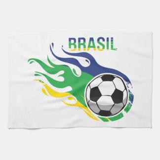 Cool Brasil Futebol Kitchen Towels