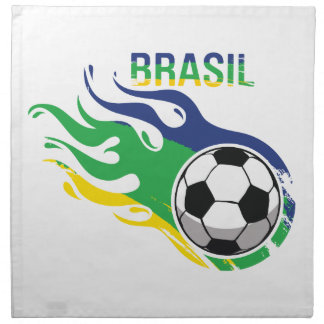 Cool Brasil Futebol Cloth Napkin