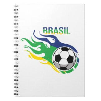 Cool Brasil Futebol Note Books