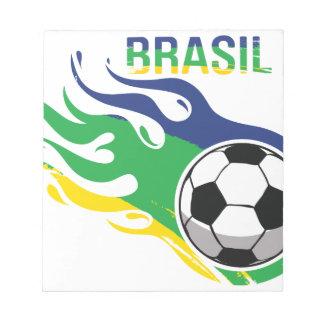 Cool Brasil Futebol Memo Note Pads