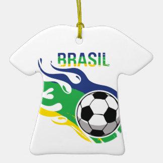 Cool Brasil Futebol Christmas Ornaments