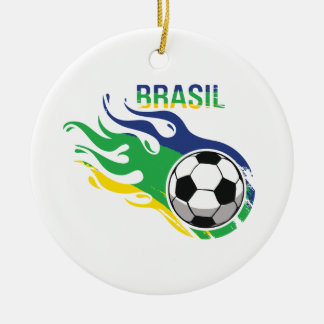 Cool Brasil Futebol Christmas Ornament