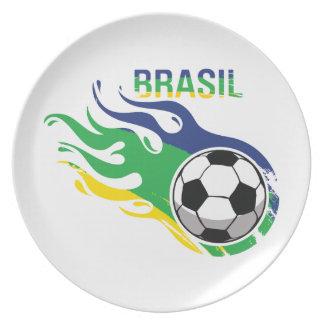 Cool Brasil Futebol Plate