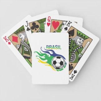 Cool Brasil Futebol Bicycle Playing Cards