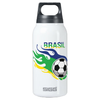 Cool Brasil Futebol 10 Oz Insulated SIGG Thermos Water Bottle