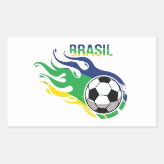 Cool Brasil Futebol Rectangle Sticker
