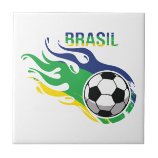 Cool Brasil Futebol Ceramic Tiles