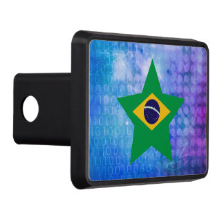 Cool Brazil Flag Star Hitch Cover