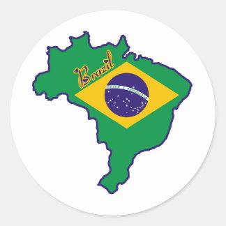 Cool Brazil Round Sticker
