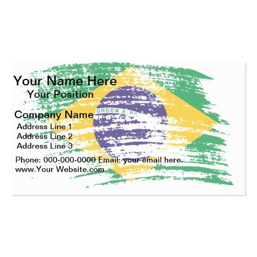 Cool Brazilian flag design Business Card