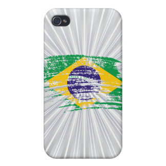 Cool Brazilian flag design iPhone 4 Cases