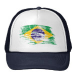 Cool Brazilian flag design Trucker Hats