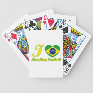 cool Brazilian Football fan DESIGNS Bicycle Playing Cards
