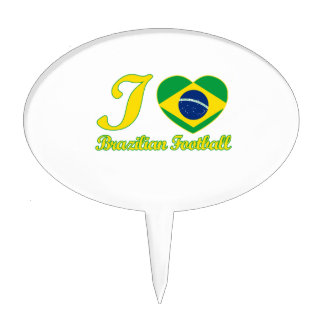 cool Brazilian Football fan DESIGNS Cake Topper