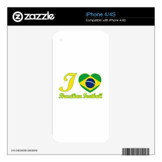 cool Brazilian Football fan DESIGNS iPhone 4 Decal