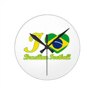 cool Brazilian Football fan DESIGNS Round Clock