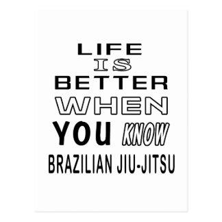 Cool Brazilian Jiu-Jitsu Designs Post Cards