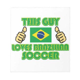 cool Brazilian soccer  DESIGNS Note Pad