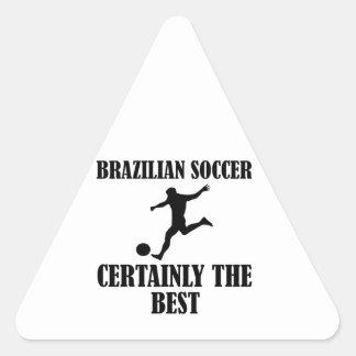 cool Brazilian  soccer designs Triangle Sticker