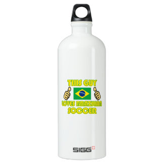 cool Brazilian soccer fan DESIGNS Water Bottle