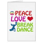 Cool Break dance designs Greeting Card
