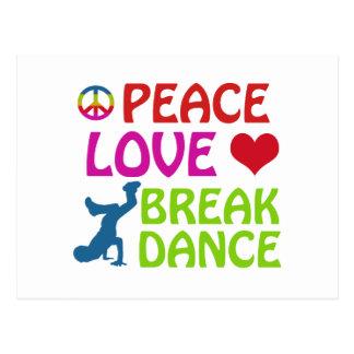 Cool Break dance designs Postcard