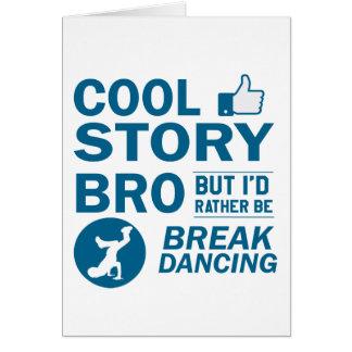 Cool break dancing designs card