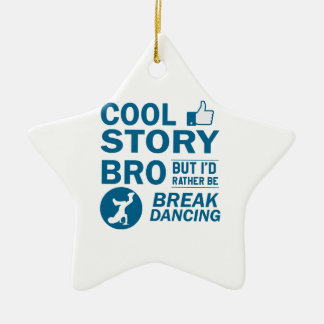Cool break dancing designs ceramic ornament