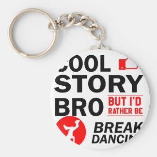 Cool break dancing designs keychain