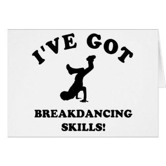 cool breakdance skills card