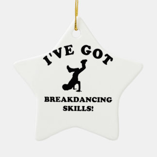 cool breakdance skills ceramic ornament