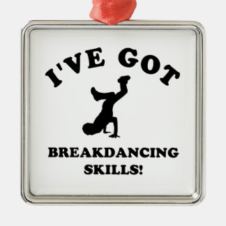 cool breakdance skills metal ornament