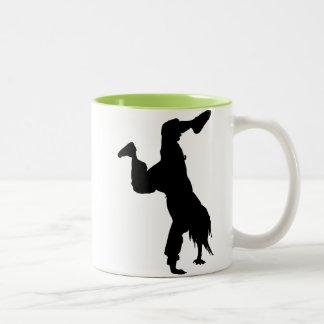 Cool Breakdancer Two-Tone Coffee Mug