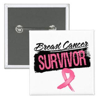 Cool Breast Cancer Survivor Pinback Button