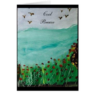 Beach Themed Cool Breeze Card
