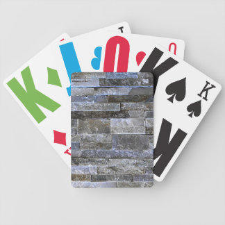 Cool Brick Wall Texture Bicycle Playing Cards