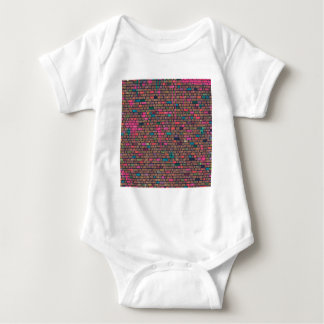 Cool Bricks Painted Paint Old Wall Vintage Baby Bodysuit