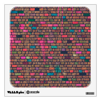Cool Bricks Painted Paint Old Wall Vintage Wall Sticker
