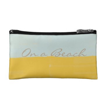 Beach Themed Cool Bright On a Beach Watercolor Abstract Bag