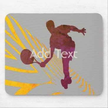 Beach Themed Cool Bright Sport Tennis Logo Add Text Mousepad