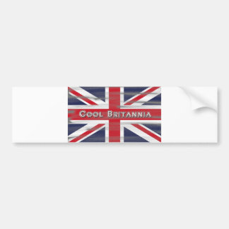 Cool Britannia British Flag Bumper Sticker