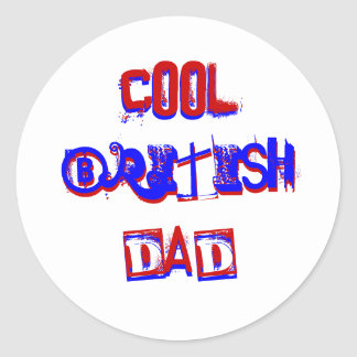Cool British Dad I Classic Round Sticker