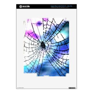 Cool Bro Grunge Goth Gothic Punk Spider's Web Dark Skin For iPad 3