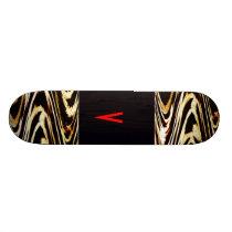 Cool Bro Monogram Zigzag of Tiger Animal Chevron Skateboard