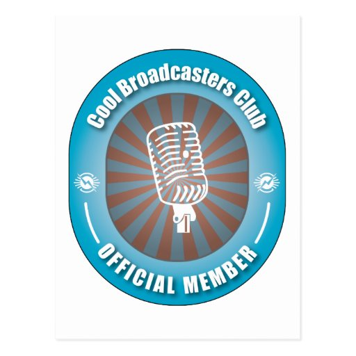 Cool Broadcasters Club Postcard