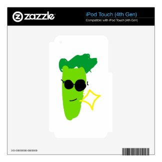 Cool Broccoli Decal For iPod Touch 4G